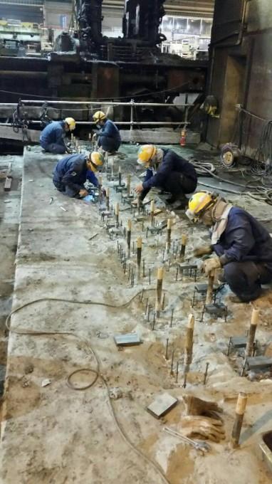岡山県某所 製鋼工場内 写真